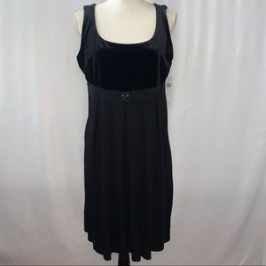 Context Black Sleeveless Dress Size Large